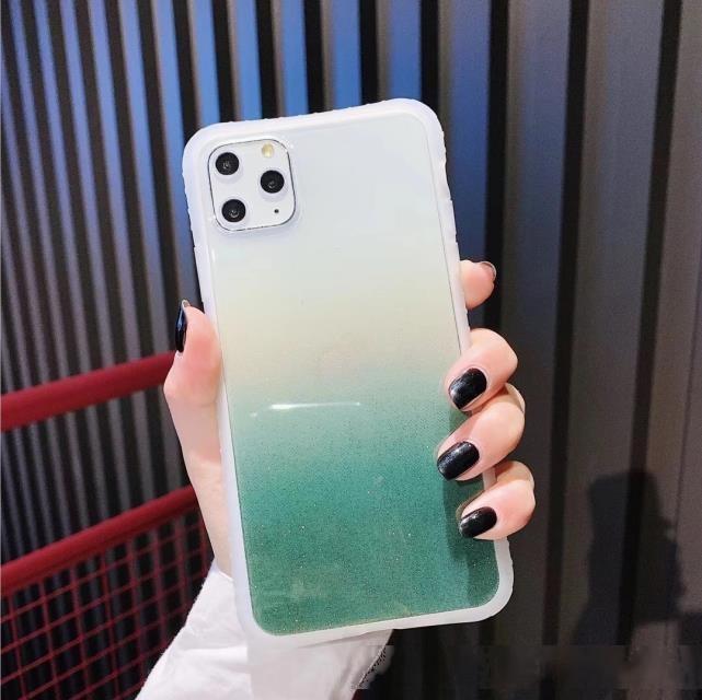 Design a sfumatura multi colore Alla moda Clear Clear Cases per iPhone 11 11Pro Beautiful Beautiful flash flash custodia per telefono flash per iphone x xr xssax
