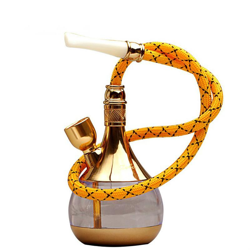 Hukahn Shisha-Wasserhaare Glas-Wasser-Bongs-Zwei-Wege-Hukahn Rauchen Set zerrissen Tabak für das Rauchen Zwei-Wege-Rohr-Wasserleitung