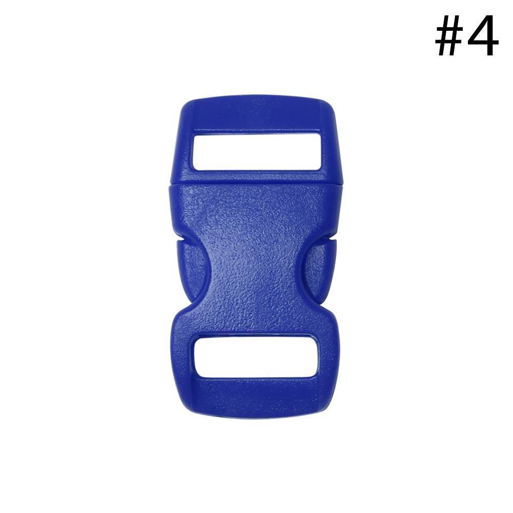 """10 pcs Collfrie lateral colorido fivela cordão curvado paracord pulseira acessórios colar estilhagem ferramentas ao ar livre peças 3/8 """"10mm q bbyvuu"""
