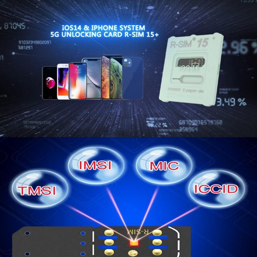 iOS14 R-SIM15+ RSIM 15+ Nano Unlock RSIM Card For iPhone 12 11 Pro XS MAX XR X 8 7 Lot