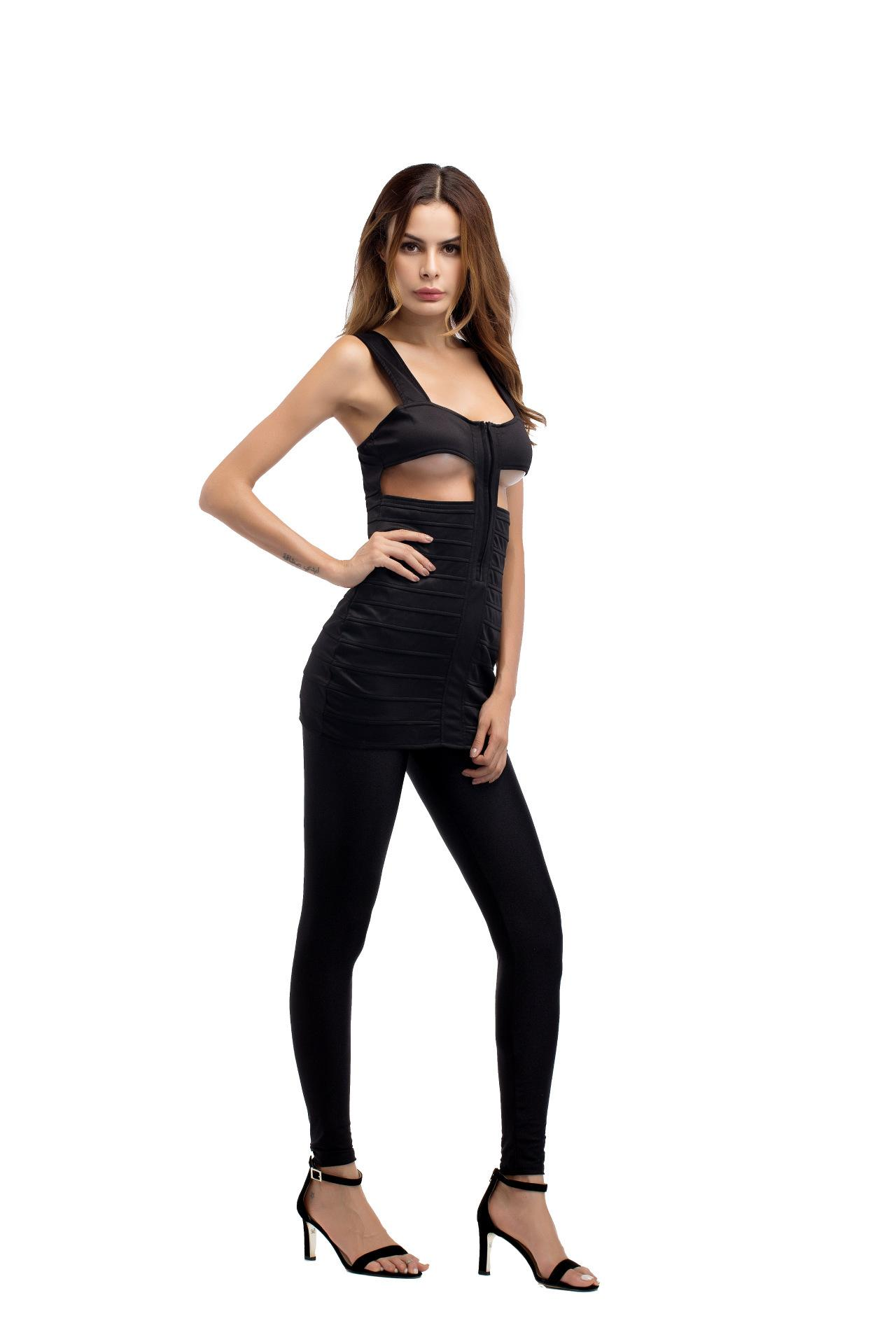 Seksi Backless Bayan Giyim Yeni Gece Kulübü Strappy Elbise Kesip