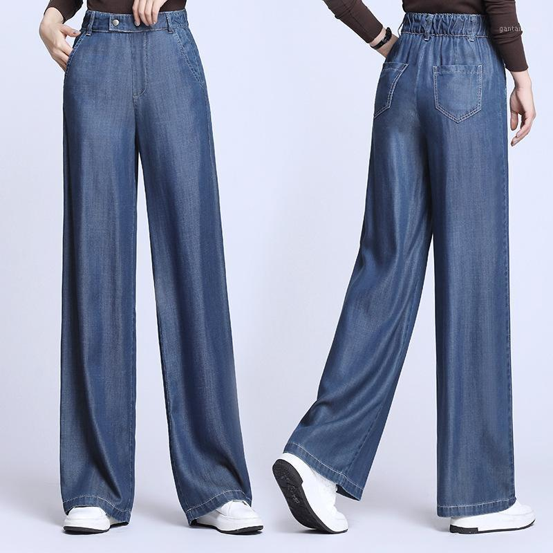 the drape thin waist new summer big yards loose straight recreational ice silk the land wide-legged pants of female1