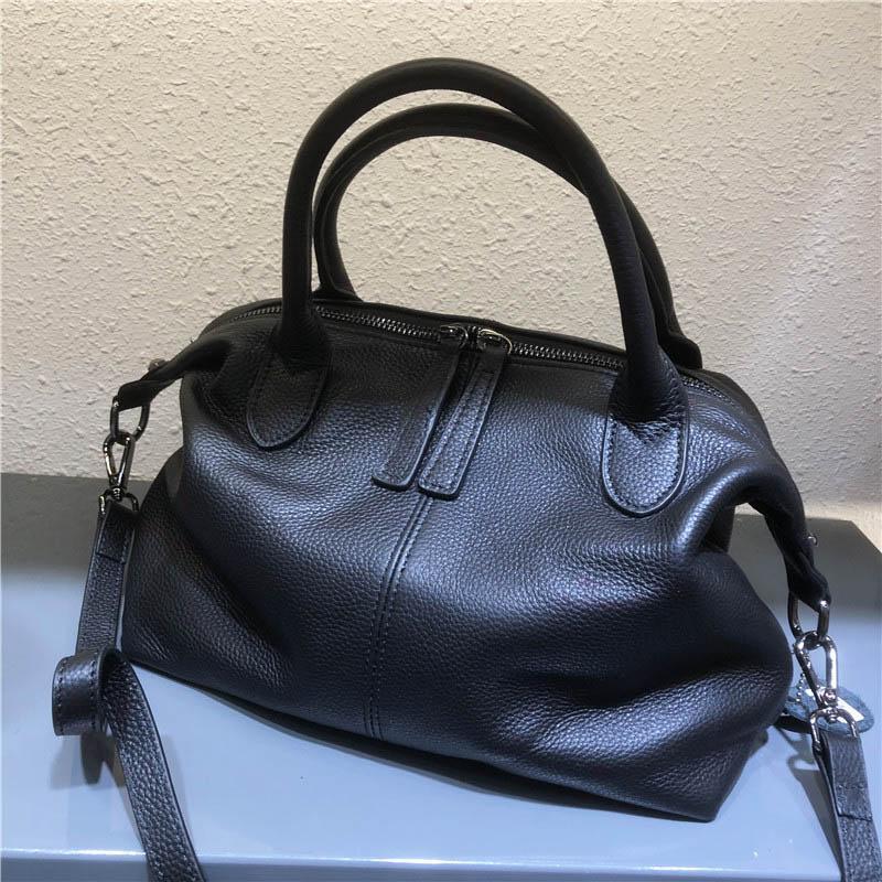 Крестное тело мягкой коровьей натуральной кожи ручной сумки женская сумка подлинной сумки дамы мода плечо для женщин 2021 черный хаки