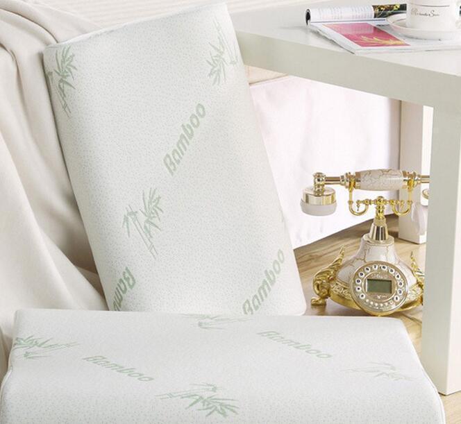 Almohada de espuma de la memoria de la fibra de bambú, almohada cervical, 30 x 50 cm Almohada de cabeza de algodón grande