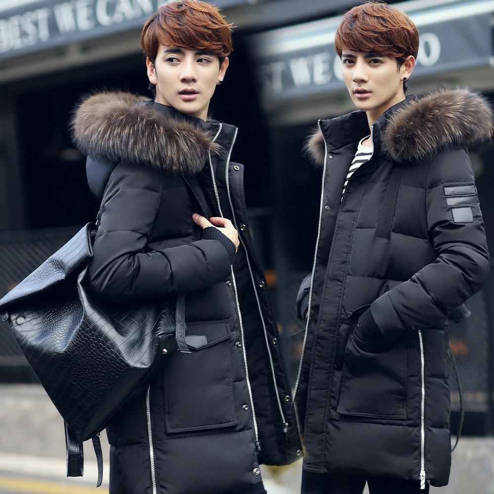 2021 hombres estacionados principalmente prendas de vestir exteriores Ropa Nueva moda abrigo de invierno largo y bruto I8R6