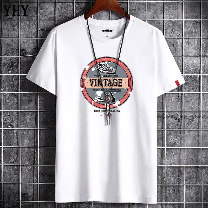 T-shirt Sommer Neue Hohe Qualität Männer Casual Kurzarm Oansatz 100% Baumwolle T-Shirt Männer Marke Weiß Schwarz T-Shirt D-6