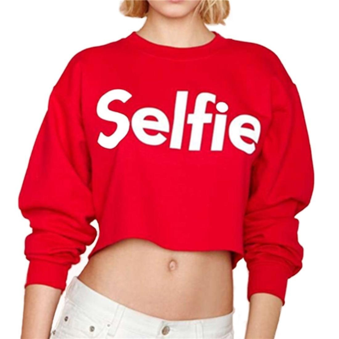Случайные буквы рубашки женские свободные короткие параграф пупок с длинными рукавами круглые шеи свитер Размер XL