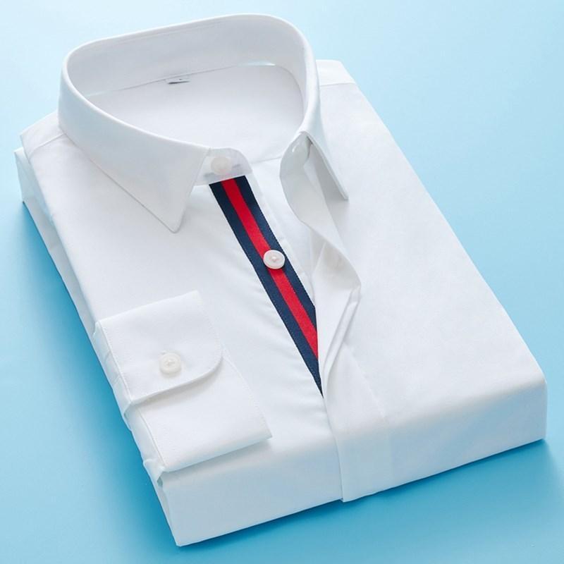 İlkbahar Sonbahar Erkekler Rahat Gömlek 2020 Moda Arı Nakış Örgün İş Slim Fit Gömlek Uzun Kollu Düğme Yüksek Kalite Gömlek C1211