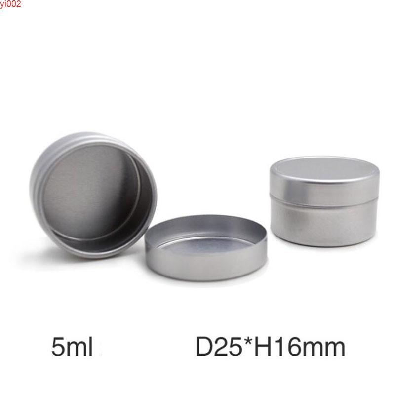 5 мл крема банка алюминиевые оловянные горшки пустые макияж инструмент для губ бальзам для губ контейнеры легкие круглые ремесла подарочная коробка 25 шт. / Lotgood Qualtty