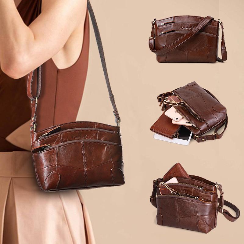 Véritable Multi Femmes Légende Cobbler Sac Femelle Sacs à main Vintage Petits sacs Bandoulière Femmes 2020 Poches d'épaule en cuir pour sac Nexif
