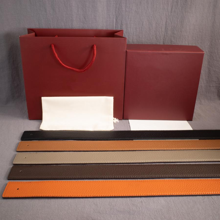 رجل حزام المرأة عارضة سلس الإبزيم أحزمة 14 نمط عرض اختياري 3.8CM جودة عالية مع مربع