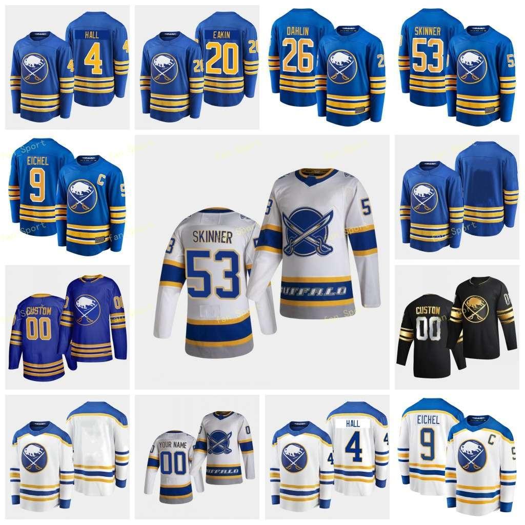 Buffalo Sabres 2021 Jersey Retro Retro Dahlin Rasmus Eichel Jack Girgensons Zemgus Hall Taylor Hutton Carter Femmes Jeunes Custom Coinded