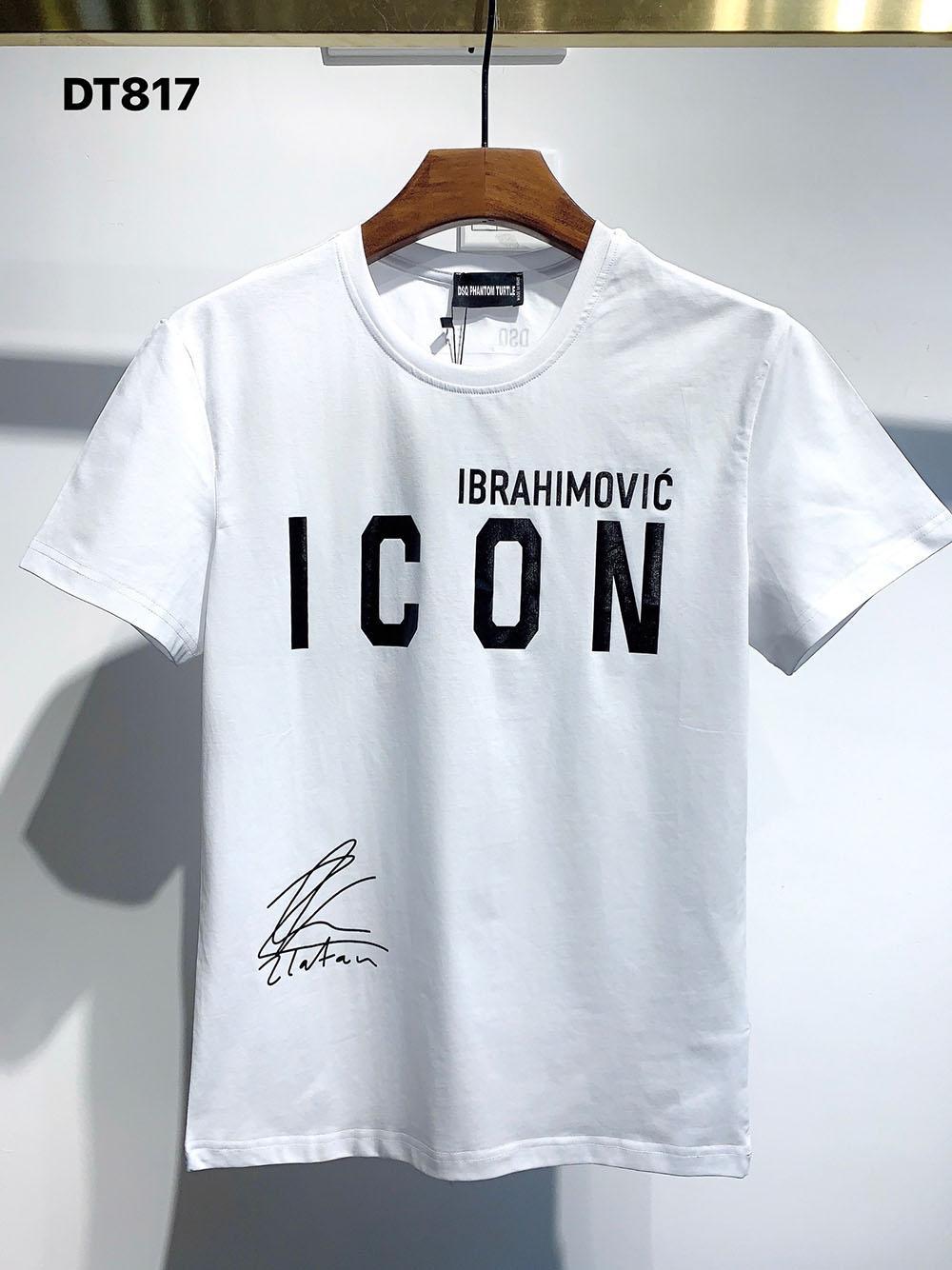 DSQ Phantom Turtle 2021SS Novo Mens Designer T Shirt Paris Moda Tshirts Verão DSQ T-shirt T-shirt Masculino Qualidade superior 100% Algodão Top 1069