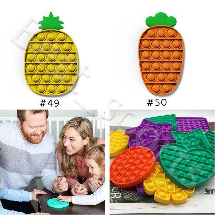 Pop It Fidget giocattolo Push Pop Pop Bubble Sensory Sensory Toy Toy Sensory Toy Silicone Squeeze per Autism Reliever Stress Party Favore CCA12663