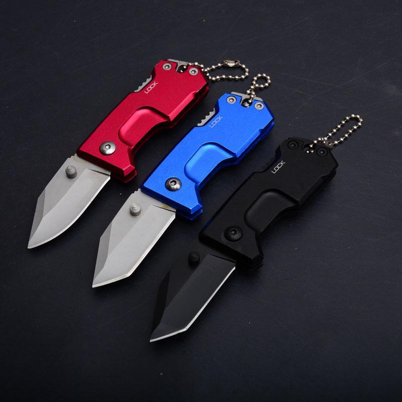 Top Qualität 3 Griffe Farben Kleine Taschenklappenmesser EDC-Taschenmesser 440c 57HRC BLADE 6061-T6 Aluminiumgriffmesser