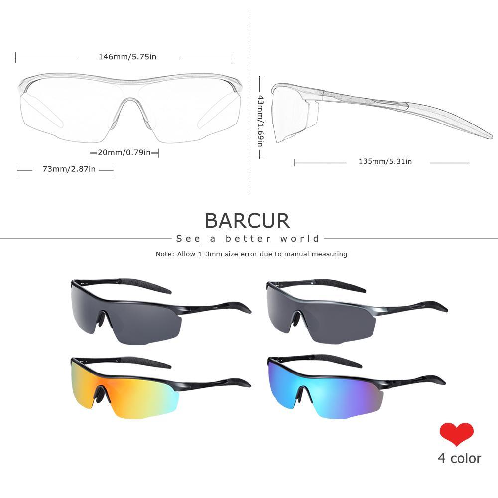 Barcur Sport Alluminio Magnesio Mens Occhiali da sole Donne Occhiali da sole Sole Polarized Anti-riflettente Tonalità oculos de sol feminino y1207