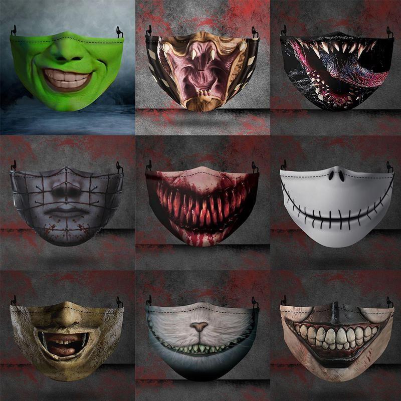 Máscara de rosto de horror O pesadelo antes do Natal máscara de cosplay mulheres meninas festas Halloween Masquerade Máscara à prova de poeira hwe2935