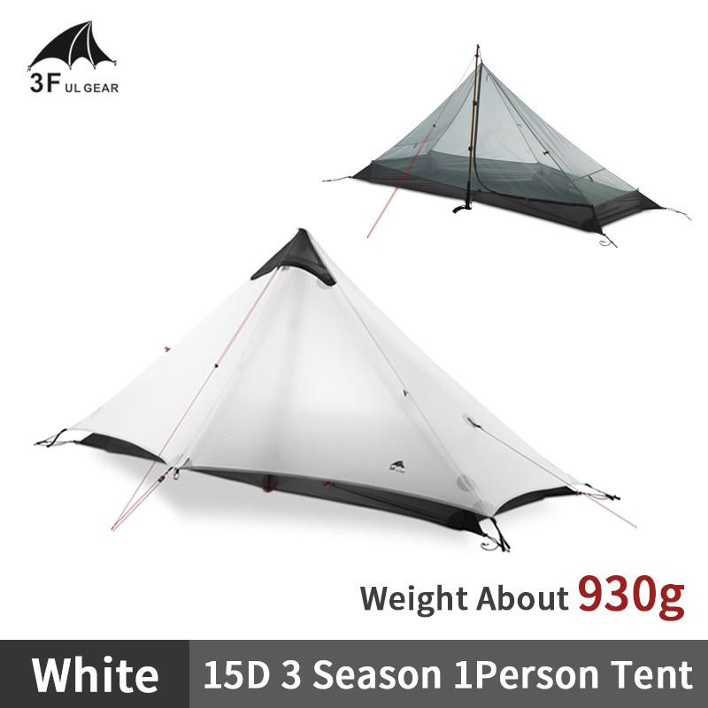 3F UL Gear LANSHAN1 2 Ultralight Camping Tent Outdoor 15D Nylon Silicone 1-2 Persona 3/4 Temporada Camping Profesional Pyramid Tienda Z1123