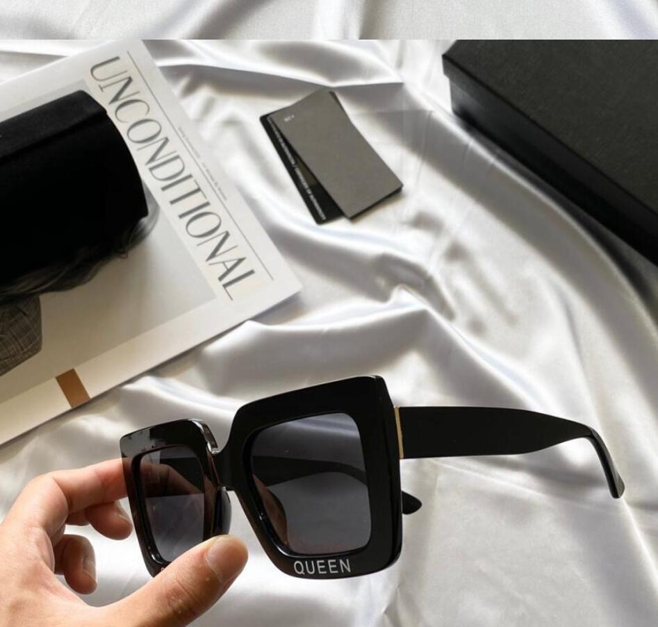 Mujer de moda Ojo Gafas de sol Señoras Sol retro con gafas o gafas Feminino Caja Marcos Mujer Vintage y Cuadrado TVKDX