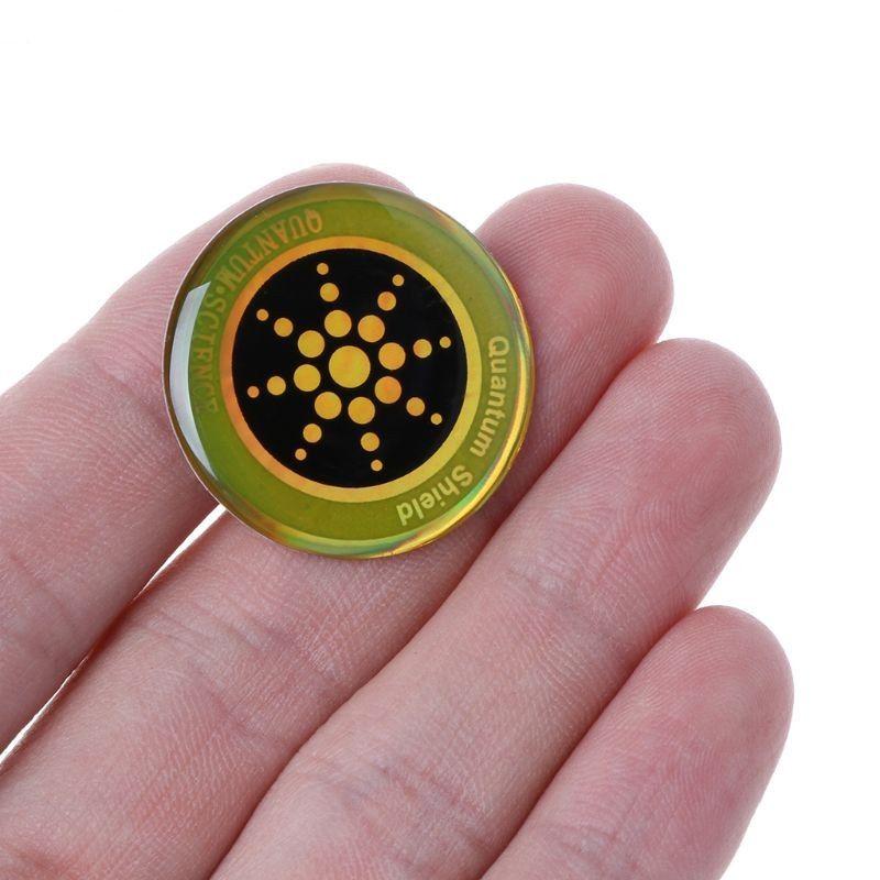 뜨거운 양자 과학 방패 안티 방사선 휴대 전화 스티커 실버 골든 정격 카드 무료 배송