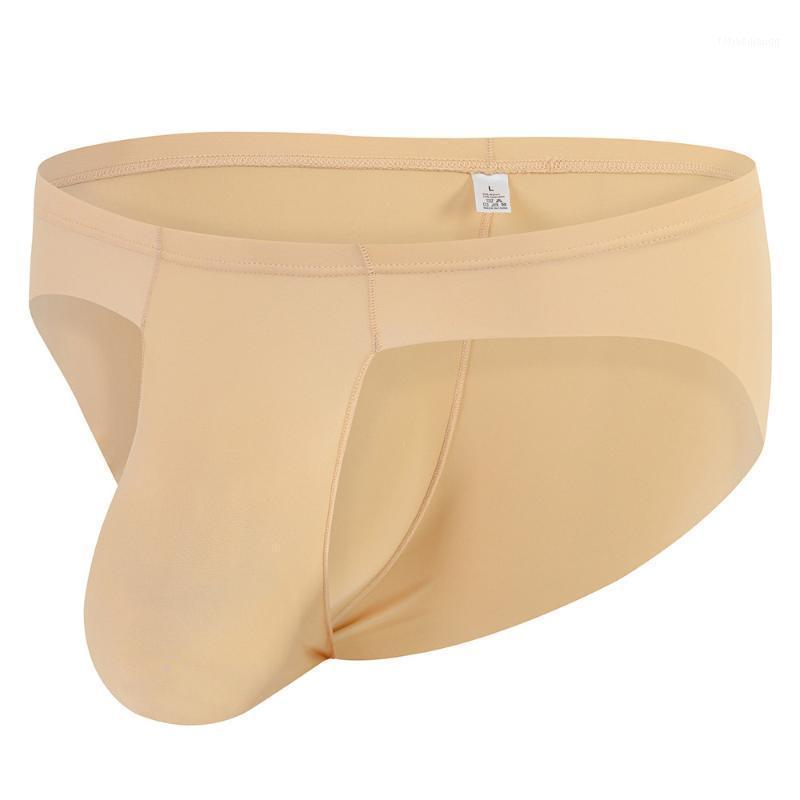 Alta Qualidade Homem Briefs Underwear Respirável Comfy Bulge Bolge Thong G-String Ice Silk Underwear Transparente Briefs Sexy1
