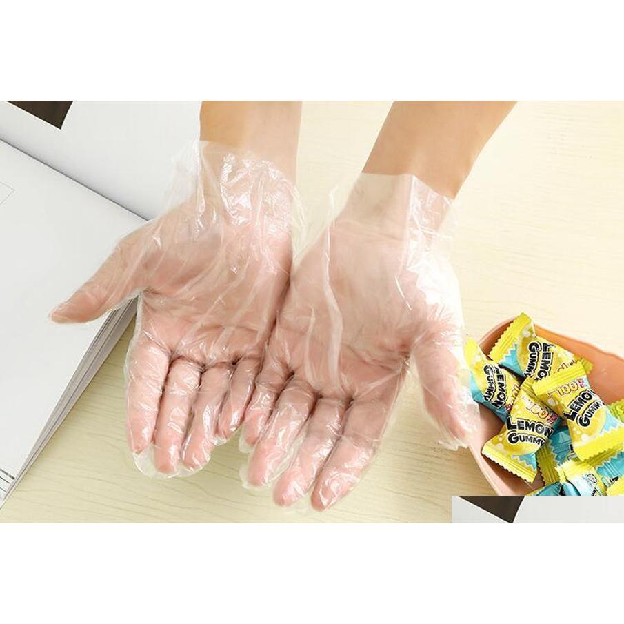 Kunststoff Einweghandschuh Food Grade Wasserdichte Transparente Handschuhe Home Clean Handschuhe Bunte Verpackung 100 stücke Andere Kitch Jlllll Mywjqq