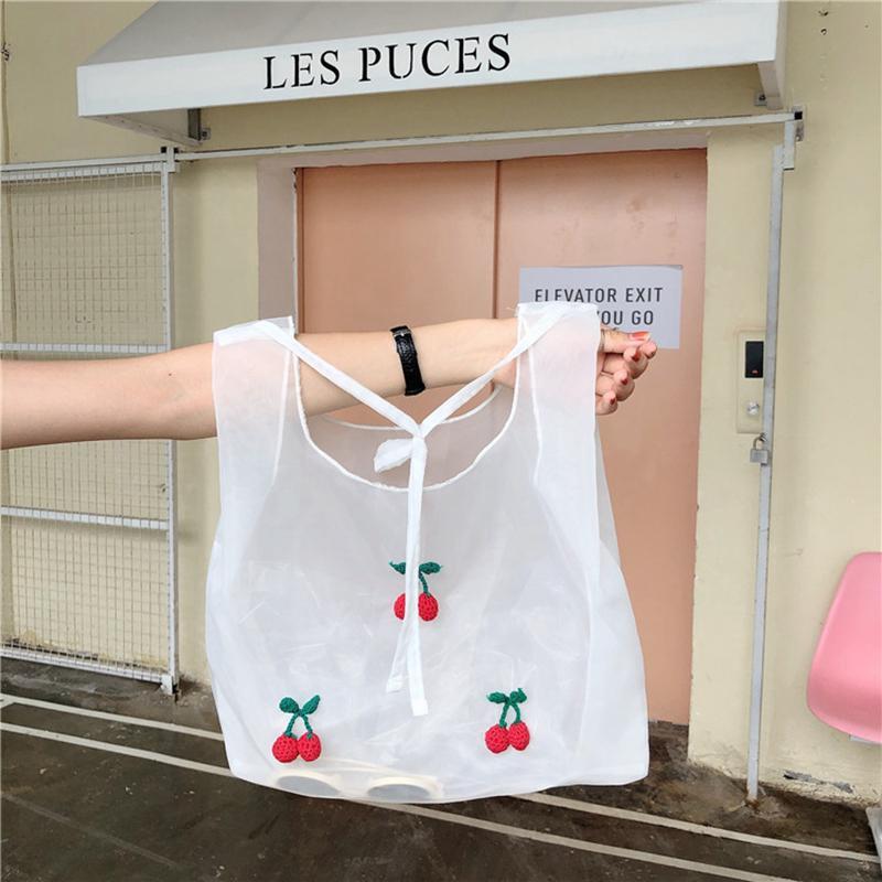 Youda Fashion Simple Handbags Organza Material Cute Ladies Shopping Handbag Student Lightweight Shoulder Bag Classic Tote Q1118