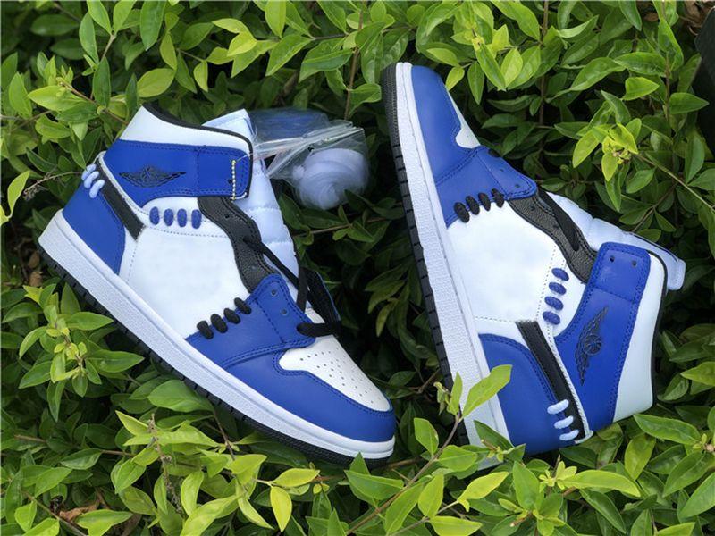 Новые 1s Mid Setherhood Jumpman WMNS SE Game Royal Blue Баскетбольные Обувь Мужчины Женщины Начальник Начало Бегущие кроссовки Размер EUR36 EUR45