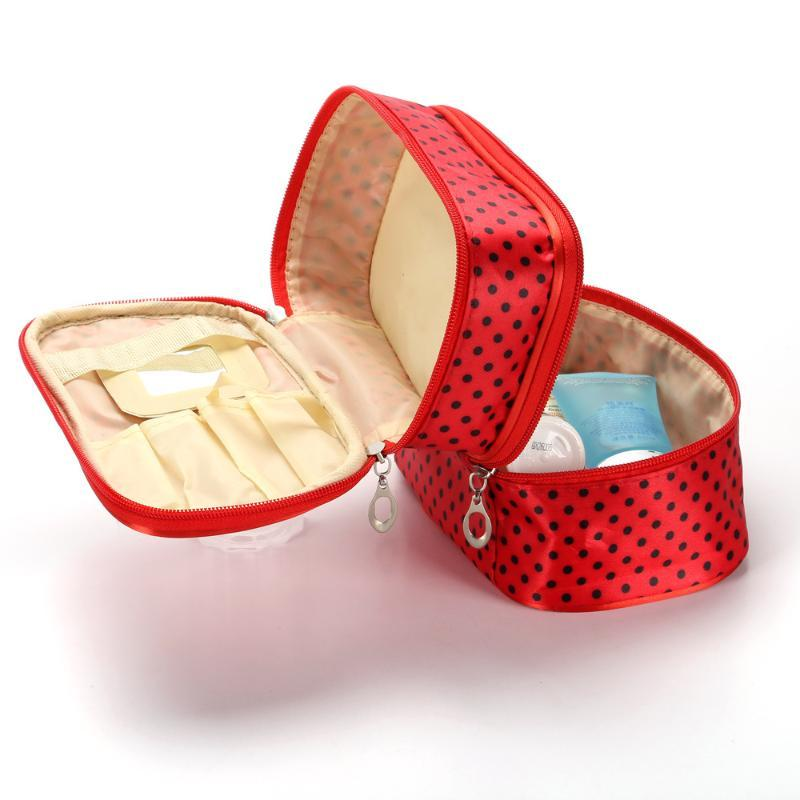 Yicleaner водонепроницаемый косметический мешок двойной макияж Хранение-мешок Макияж-организатор Сумка на молнии