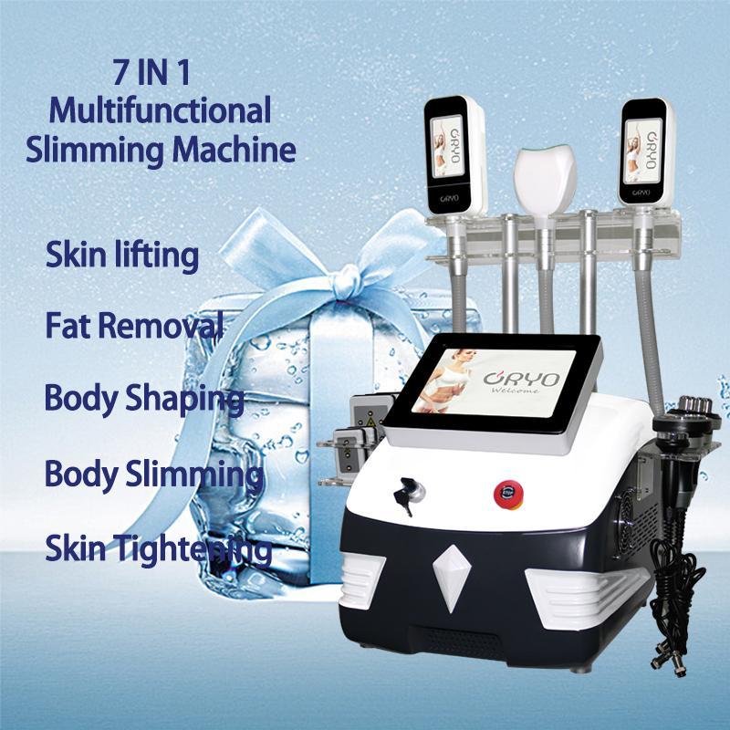 2021 Cryolipolysis Freeze Freeze Máquina de emagrecimento Cryo Slim Frequência Frequência Apertação da Pele Ultrassom Cavitação Cavitação Cryotherapy Salon Use equipamentos de beleza