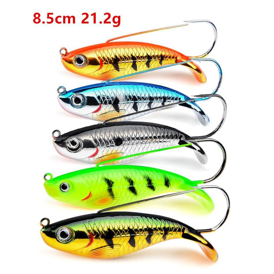 5 اللون 8.5 سنتيمتر 21.2 جرام الرقص البلاستيك الصلب الطعوم السحر الصيد السنانير واحدة هوك pesca الصيد معالجة KL_220