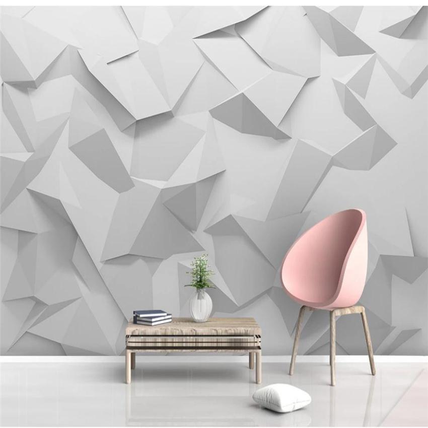 Mot moderne Minimaliste Creative Géométrique Rhombus Trois dimensionnel Fond de fond 3D Papier peint stéréoscopique