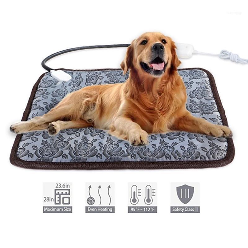 Winter Waterproof Pet Heated Pad Bed Puppy Dog Cat Warmer Electric Heating Mat Cushion Mat-US Plug 45X71cm1
