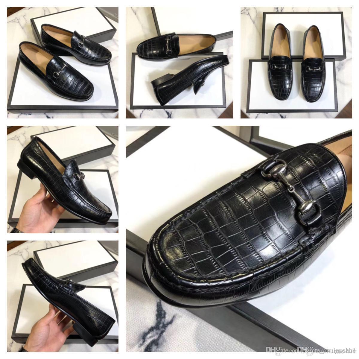 G1 2019 Классические Официальные Обувь Мужчины Мода Стиль Натуральная Кожа Оксфорд Платье Обувь Итальянский Ручной работы Мужская крокодиловая обувь 22