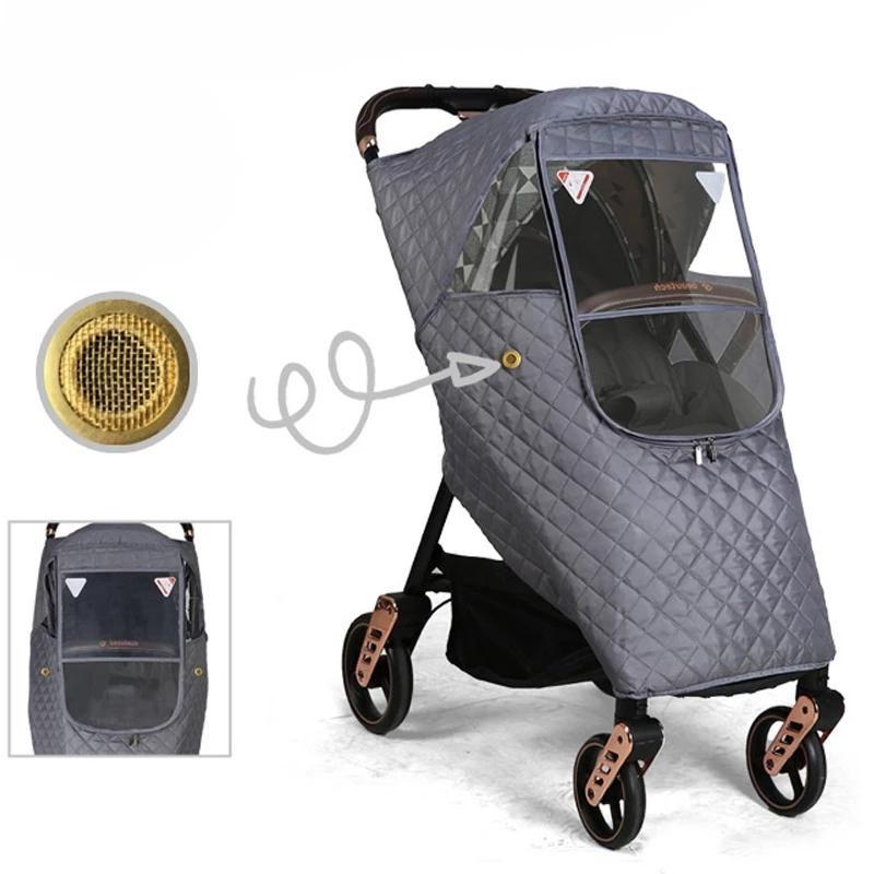 Universal Waterproof inverno engrossar cobertura de chuva vento protetor de poeira capa de chuva para bebê carrinho de criança chuva