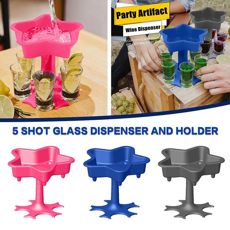 6 atış likör bölücü cam dağıtıcı tutucu şarap bölücü bira içecek dağıtıcı atış buddys likör distribütörü yemek çubuğu drinkware
