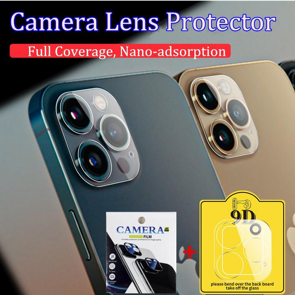 Temperierte Glaskamera-Objektiv-Protektoren für iPhone 12 11 Pro max 3D HD Clear Glass Film-Kameraabdeckung