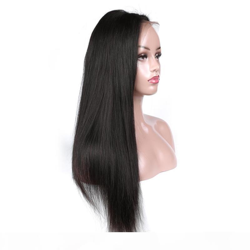 Perruques de la dentelle droite soyeuse de couleur naturelle pour femmes noires prérefinées de la dentelle de la dentelle brésilienne