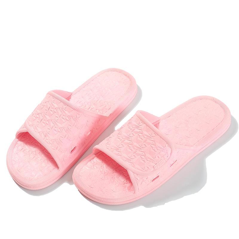 2 pares Inicio Fragmento Zapatillas Linda Femenina Cuarto de baño interior Baño Sandalias antideslizantes Sandalias para hombre Zapatillas para hombre, Pareja Baño Deslizadores antideslizantes