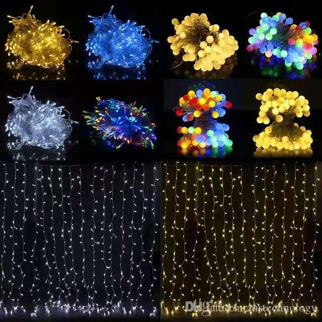 tensión de seguridad 8 del partido de Navidad * 3M Garland de Navidad LED Faiy Modos 30M 10M 3 secuencia del LED LED DC31V Etapa jardín al aire libre luz decorativa