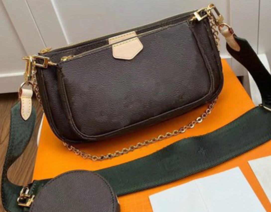 2020 novo clássico flor marrom moda crossbody pequeno mini 24cm Sacos de embreagem 3 pcs set tote