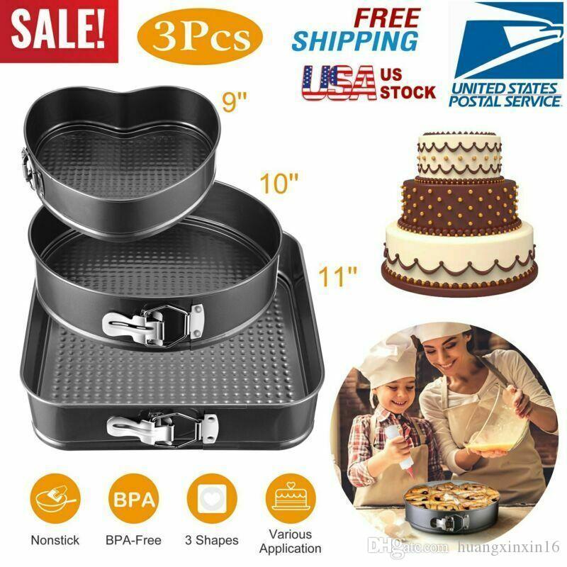 3 шт. Безстрая пружинная форма круглая торт сковорода набор чизкейк герметичная выпечка свадьба