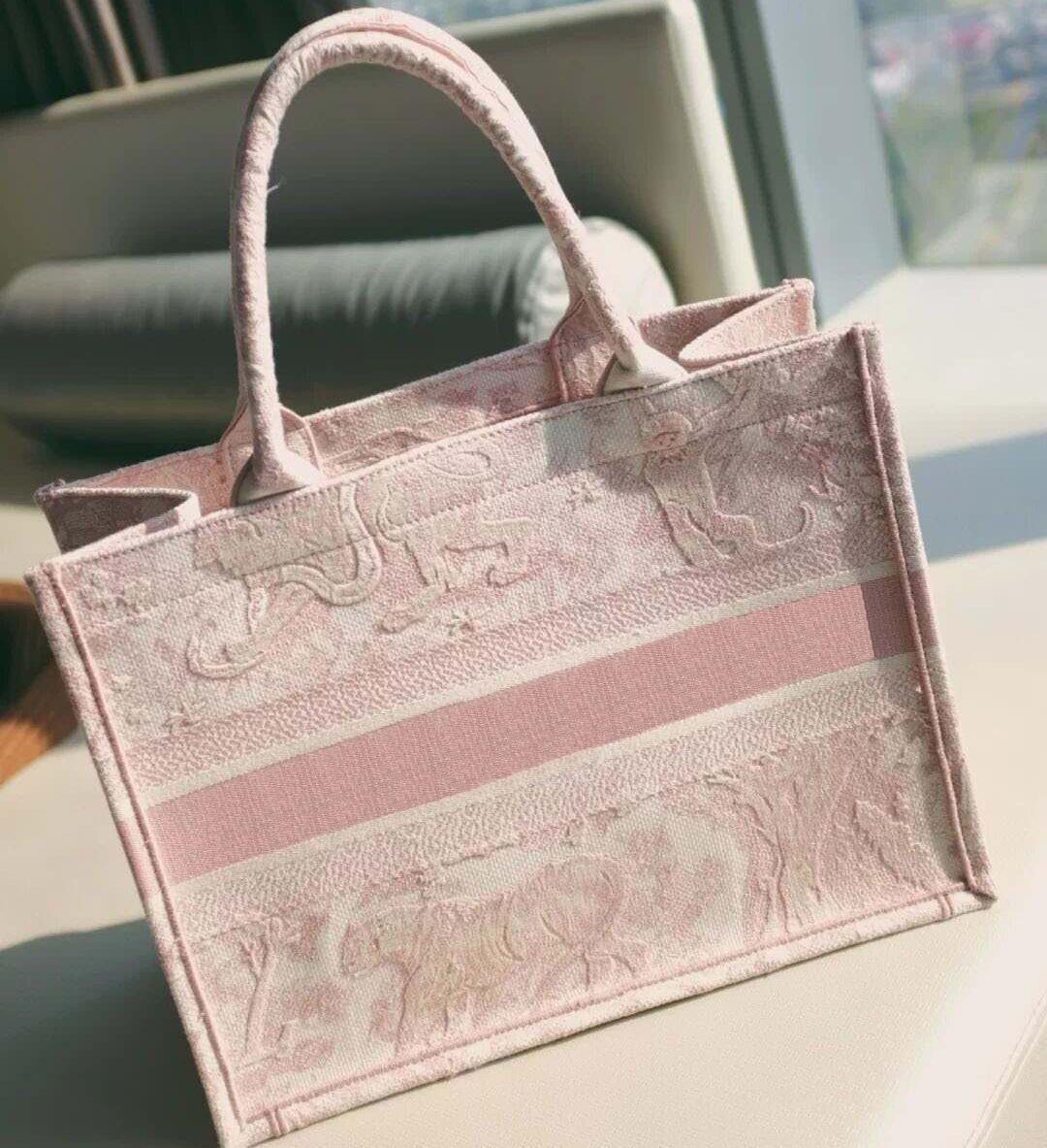 2020 neu gestickte Tiger Muster Große Kapazität Luxus große Marke Einkaufstasche Handtasche Handtasche Handgemachte doppelseitige Blume