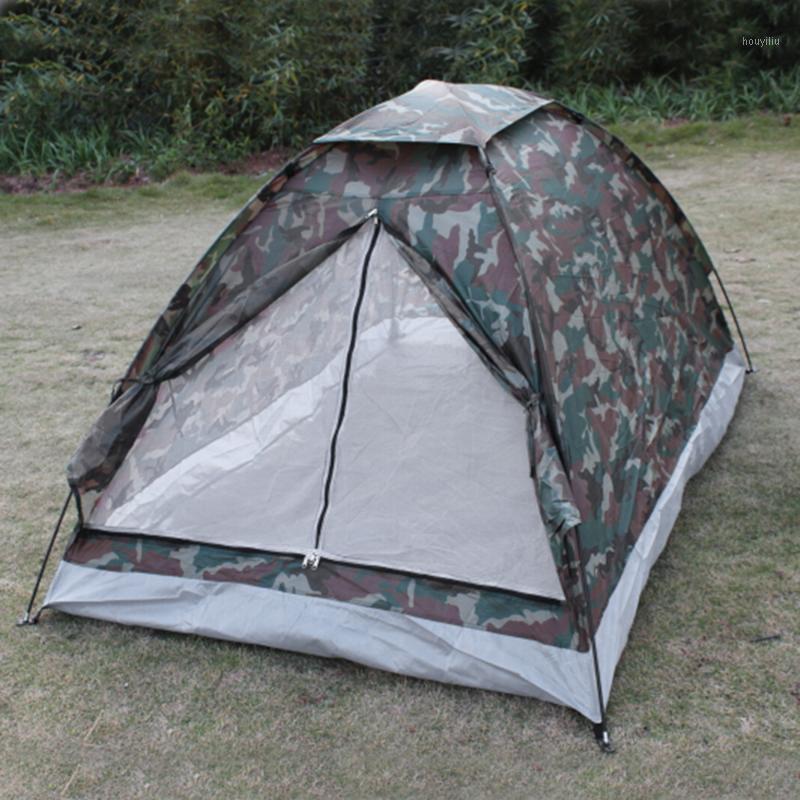 Senderismo al aire libre Camping Playa Portátil Tela impermeable Tienda 2 Persona Camuflaje Layadora de sol solar Refugio Anti UV Shade Awning1