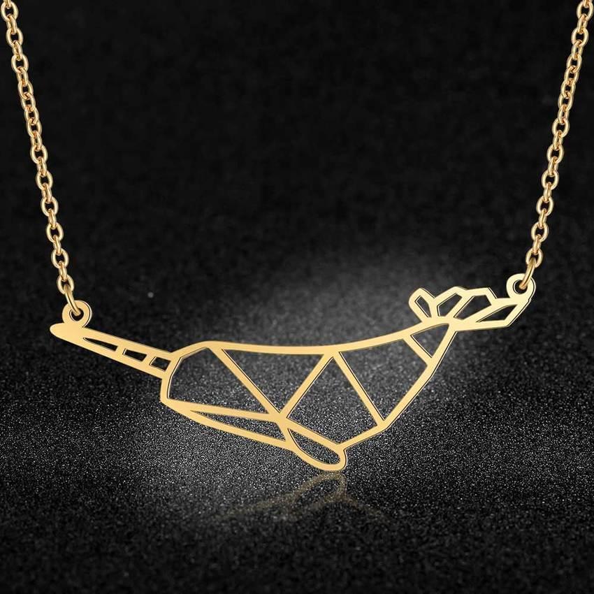Edelstahl LavixMia Authentische Stahl Meer Conch Tier Schmuck Halskette Großhandel Weibliche einzigartige Schlange Fisch Halsketten Dropshipping Zlez