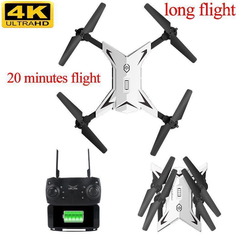 Мини Дроны с камерой HD Drone 20 минут Долгое время Flup Time Frone Fifi Selfie Dron 4K Life WiFi One Клавиша Возврат Dronee1