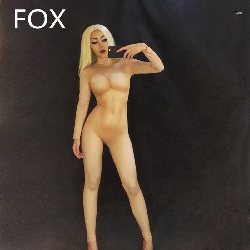 Женщины сексуальный этап голый комбинезон 3D печатный боди ночной клуб DJ певица ступенька носить день рождения празднуйте партийные костюмы1