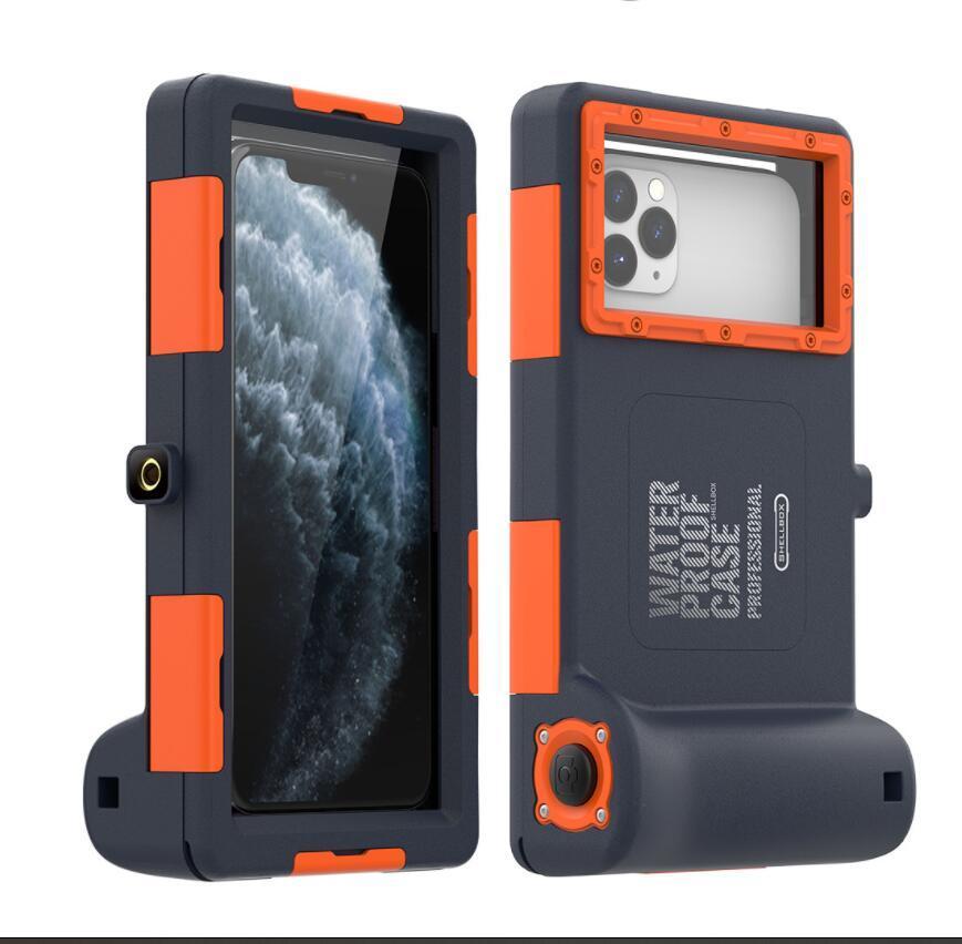 아이폰 12 Pro Max XS 수 중 전체 보호 전화 커버에 대한 15m 다이빙 방수 케이스 삼성 노트 S20 S30
