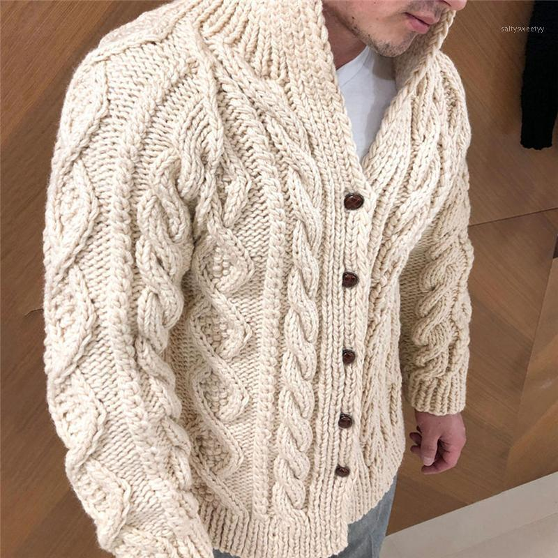 2021 New Cardigan Suéter Hombres Grueso Slim Fit Suéter Abrigo Jumpers Punto de punto Ropa de punto Alta calidad Otoño Estilo coreano Casual Mens Suéteres1
