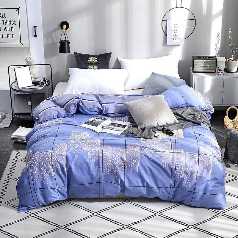 LUSSO TWIN TWIN FULL Queen King Size Soft Duvet Cover 100% cotone fibra reattiva stampe trapunta copertina solo set di biancheria da letto